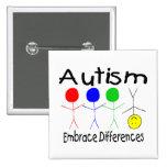 Diferencias del abrazo del autismo (gente) pin