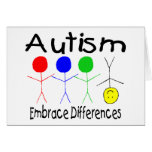 Diferencias del abrazo del autismo (gente) tarjeta