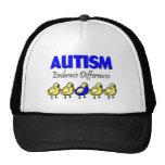 Diferencias del abrazo del autismo gorras de camionero