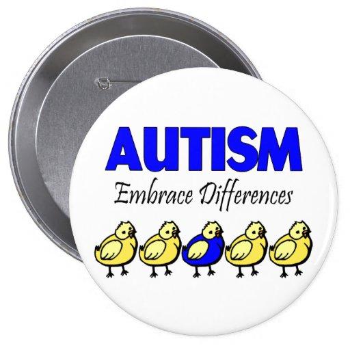 Diferencias del abrazo del autismo pin