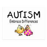 Diferencias del abrazo del autismo postal