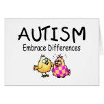 Diferencias del abrazo del autismo tarjeta