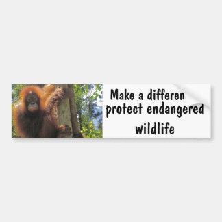 Diferencie con la caridad animal etiqueta de parachoque