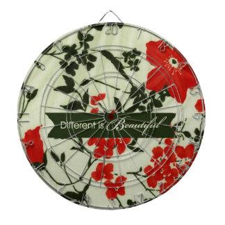 Diferente es el vintage hermoso floral tabla dardos