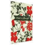 Diferente es el vintage hermoso floral impresiones en lienzo estiradas