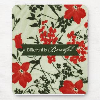 Diferente es el vintage hermoso floral mousepads