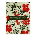 Diferente es el vintage hermoso floral postales