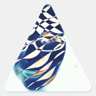 Diferente Pegatina Triangular