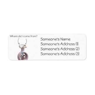 Differen Return Address Label