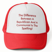 Difference Between A Republican And A Communist hat