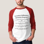 Difference Between College Degrees T-Shirt