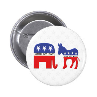 Difference Between Republicans and Democrats Funny 2 Inch Round Button