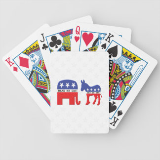 Difference Between Republicans and Democrats Funny Bicycle Playing Cards