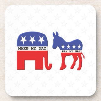 Difference Between Republicans and Democrats Funny Drink Coaster