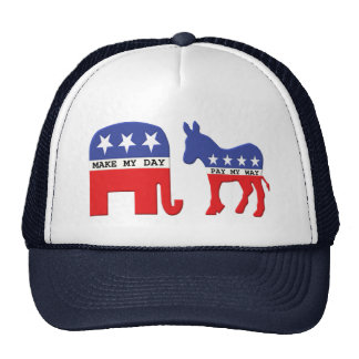 Difference Between Republicans and Democrats Funny Mesh Hats