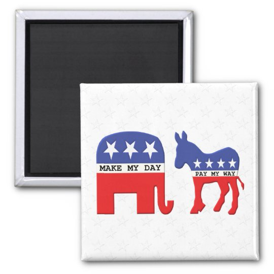 Difference Between Republicans and Democrats Funny Magnet