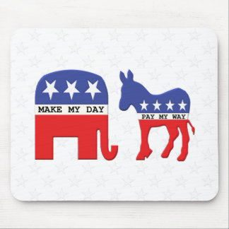 Difference Between Republicans and Democrats Funny Mouse Pad