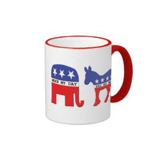 Difference Between Republicans and Democrats Funny Ringer Mug