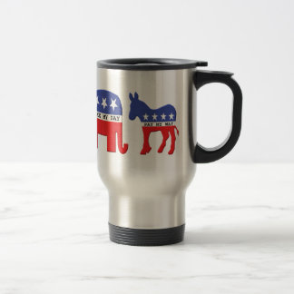 Difference Between Republicans and Democrats Funny Travel Mug