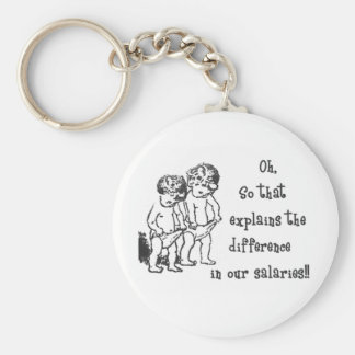 Difference in salaries keychain