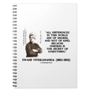 Differences Degree Oneness Secret Of Everything Spiral Notebook