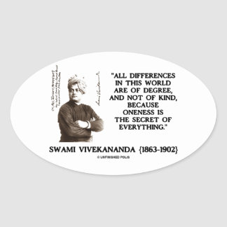 Differences Degree Oneness Secret Of Everything Oval Sticker