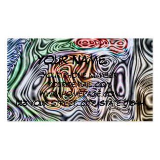 Different abstract pattern business card