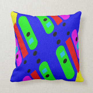 Different abstract pattern throw pillow