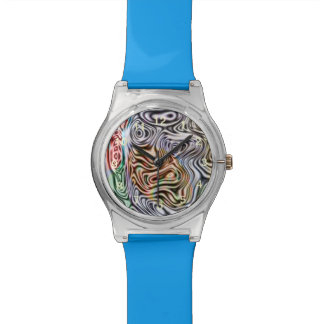 Different abstract pattern wrist watch