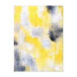 'Different' Black and Yellow Abstract Art Canvas Print