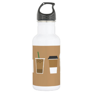 Different Coffee Types Love Coffee Graphic Design Water Bottle