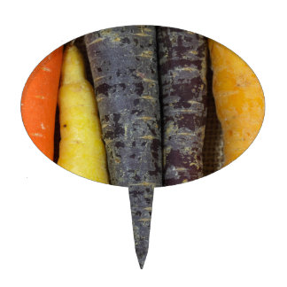 Different colored carrots cake topper
