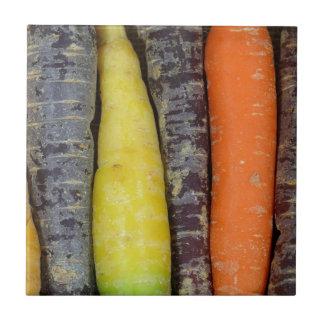 Different colored carrots ceramic tile