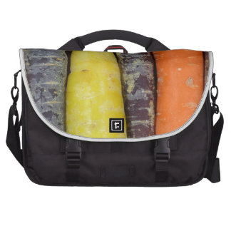 Different colored carrots laptop bag