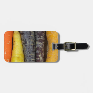Different colored carrots luggage tag