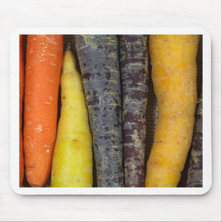 Different colored carrots mouse pad