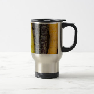Different colored carrots travel mug
