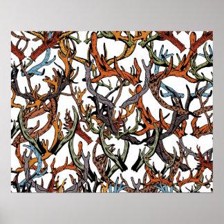 Different deer horns poster