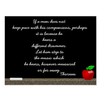Different drummer - Thoreau quote print