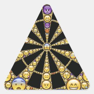Different Emotions Round Design Triangle Sticker