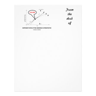 Different Fates Of The Universe In Perspective Letterhead