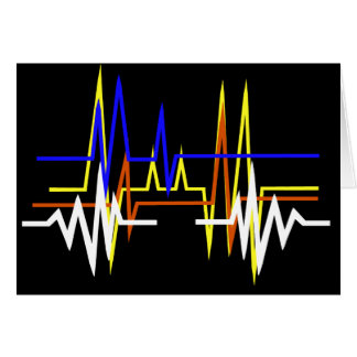 Different Frequencies Love Greeting Card