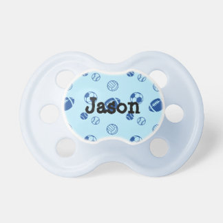 Different game balls pattern pacifiers