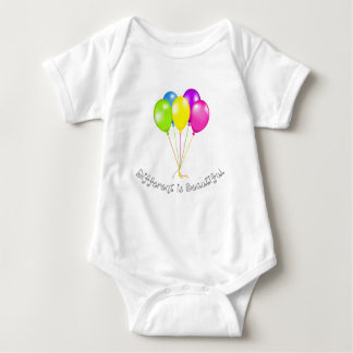 Different is beautiful baby bodysuit