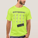 Different is Okay Flamingo Design Quote T-Shirt