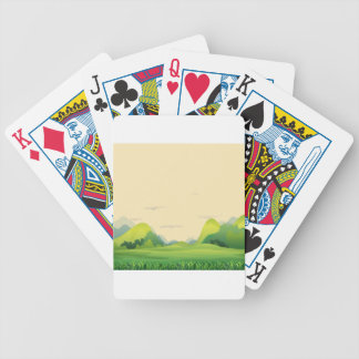 Different landforms bicycle playing cards
