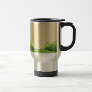 Different landforms travel mug