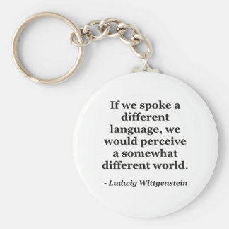 Different language different world Quote Keychain
