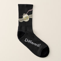 Different! little upside-down owl socks