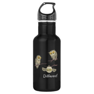 Different! little upsidedown owl~ aluminum bottle